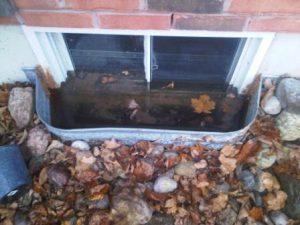 Keep Window Wells Clean - Risk Broken Windows - Wet Basement